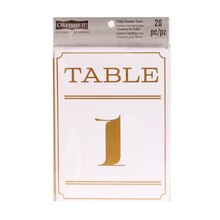 Celebrate It Occasions Numbered Table Tent Cards, Art Deco